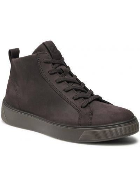 Buty sportowe skorzane - brązowe Ecco