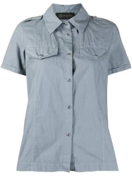 Классическая классическая рубашка с вышивкой с воротником на пуговицах Mr & Mrs Italy