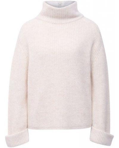 Шерстяной белый свитер с подкладкой Brunello Cucinelli