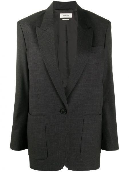 Шерстяной однобортный черный классический пиджак Isabel Marant étoile