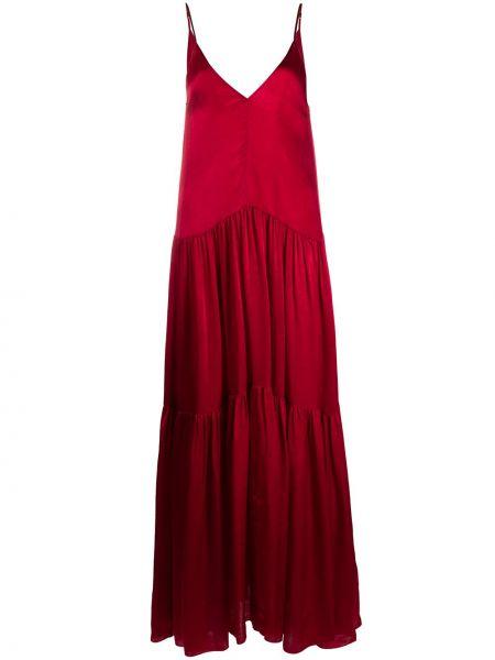 Платье макси на бретелях плиссированное Forte Forte