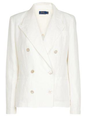 Льняной блейзер - белый Polo Ralph Lauren