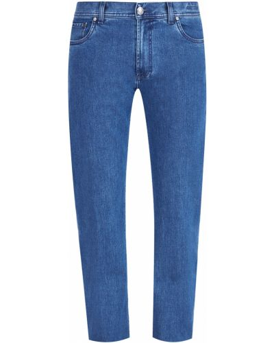 Прямые джинсы с карманами на пуговицах Enrico Mandelli