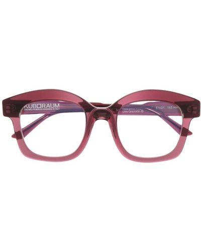 Różowe okulary oversize Kuboraum