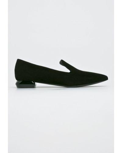 Балетки кожаные на каблуке Gino Rossi