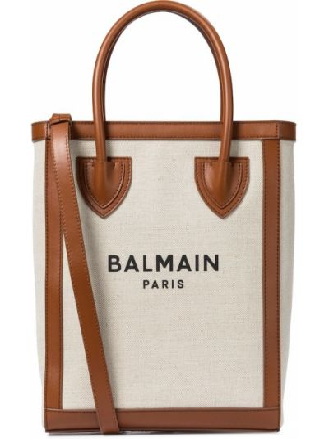 Armia bawełna beżowy brezentowy torba na zakupy Balmain