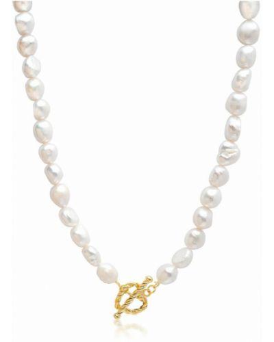 Biały naszyjnik z pereł Nialaya
