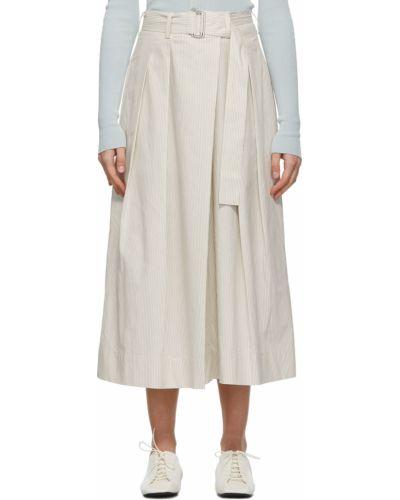 Białe szorty bawełniane w paski Lemaire