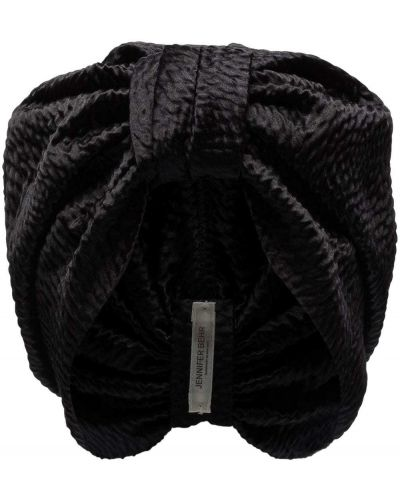 Czarny jedwab turban Jennifer Behr