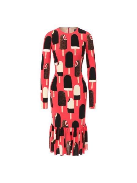 Летнее платье розовое шелковое Dolce & Gabbana