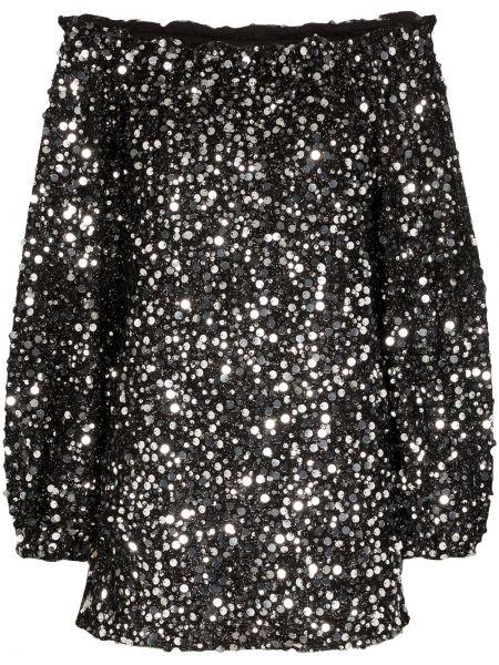 Платье мини с пайетками черное Rotate
