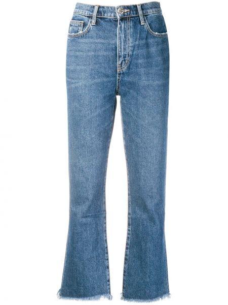 Расклешенные джинсы синие на пуговицах Current/elliott