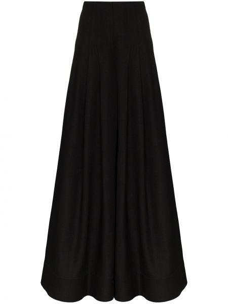 Szerokie spodnie pofałdowany czarne Jacquemus