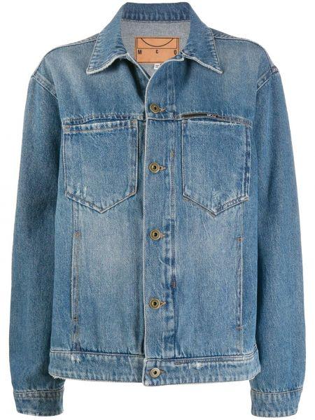 С рукавами ватная синяя джинсовая куртка Mcq Alexander Mcqueen