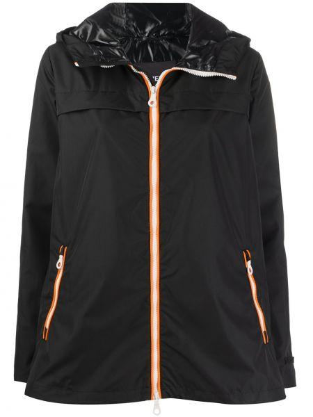 Черная куртка с капюшоном с карманами с длинными рукавами Duvetica