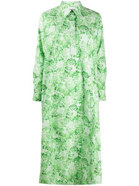 Платье на пуговицах с цветочным принтом Ganni
