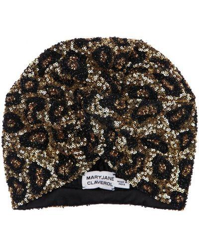 Bawełna bawełna turban z cekinami Mary Jane Claverol