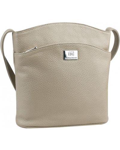 Мягкая кожаная сумка на молнии из натуральной кожи Franchesco Mariscotti