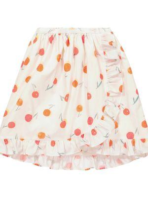 Ватная хлопковая белая юбка Bonpoint