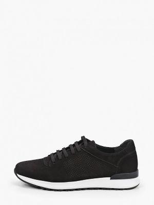 Черные кроссовки из нубука Pazolini