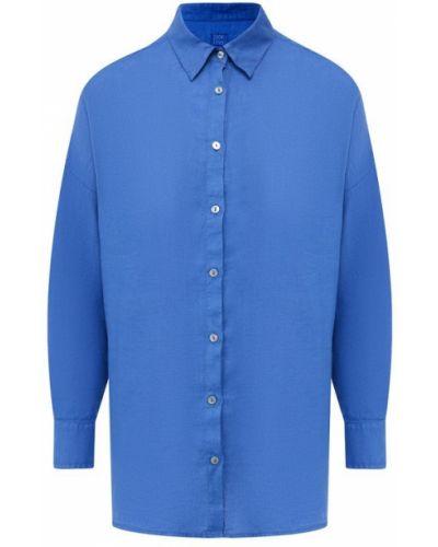 Льняная рубашка - синяя 120% Lino