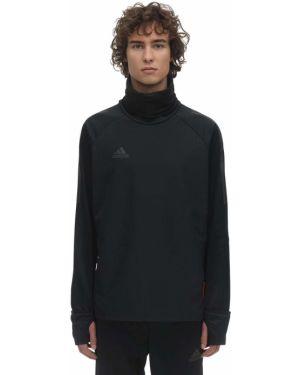 Czarny top z siateczką z raglanowymi rękawami Adidas Football