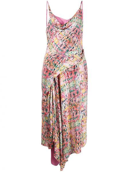 Платье миди на бретелях с драпировкой Sies Marjan