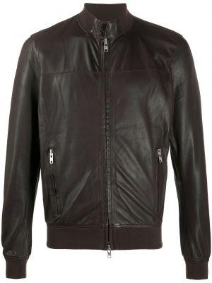 Коричневая куртка на молнии с карманами с воротником S.w.o.r.d 6.6.44