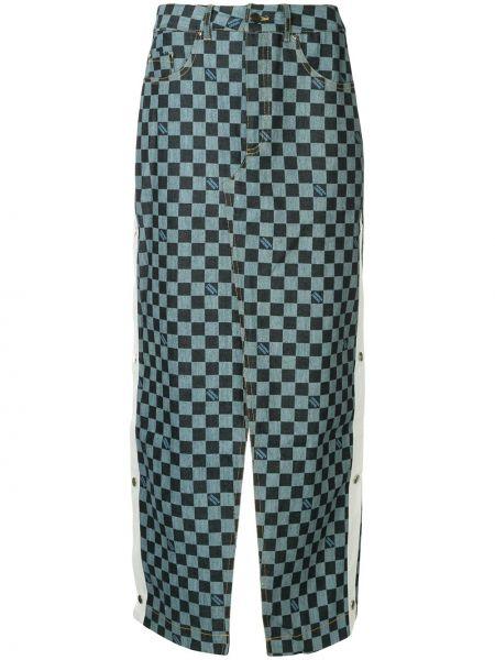 Джинсовая юбка с завышенной талией макси Andrea Crews