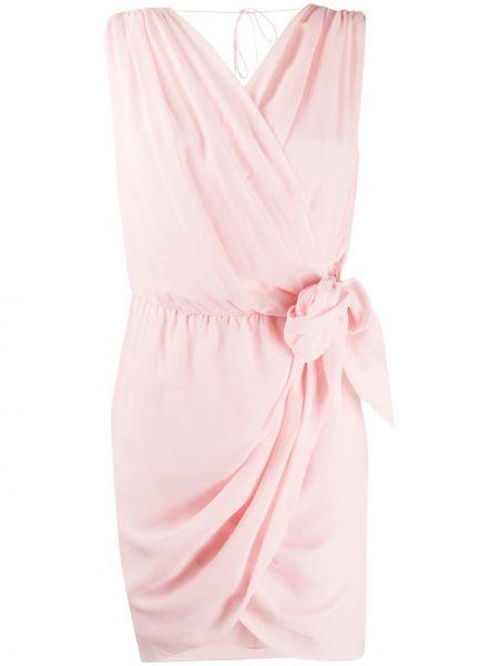 Приталенное платье с запахом с V-образным вырезом с драпировкой Redemption