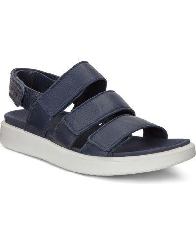 Сандалии на каблуке синий Ecco