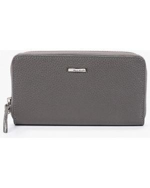 Кожаный кошелек - серый Pulicati