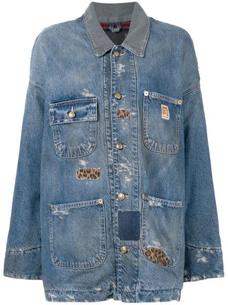 Джинсовая куртка длинная оверсайз R13