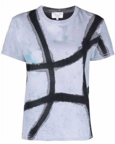 T-shirt z printem - niebieska Collina Strada