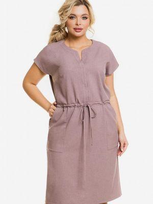 Коричневое весеннее платье Venusita