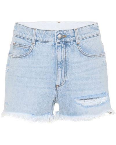 Джинсовые шорты синий Stella Mccartney