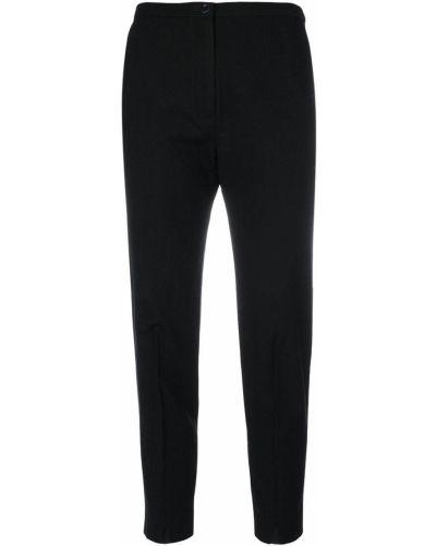 Черные укороченные брюки с поясом Oyuna