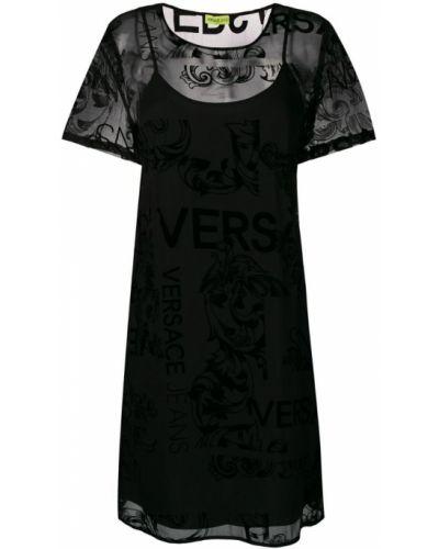 Черное платье мини Versace Jeans
