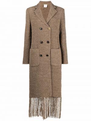 Коричневое пальто из альпаки Alysi