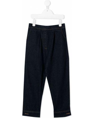 Niebieskie jeansy z wysokim stanem bawełniane Little Creative Factory Kids