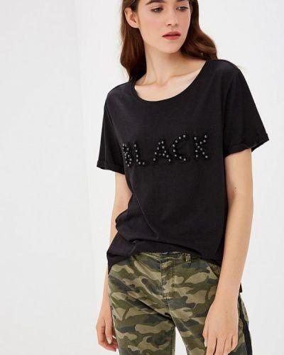 Черная футболка индийская S.oliver