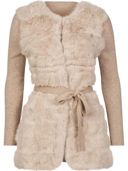 Шерстяное пальто - бежевое Gallotti