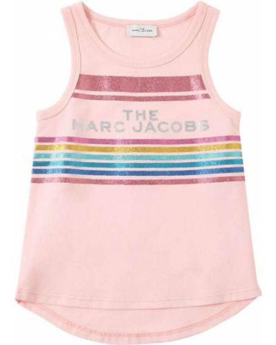 Трикотажная розовая майка Little Marc Jacobs