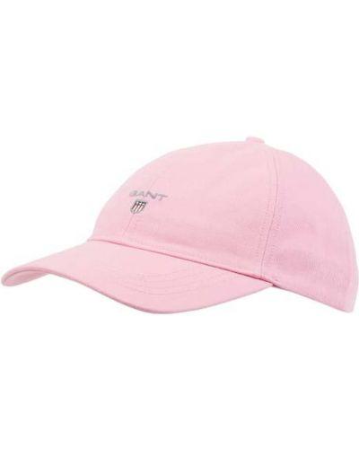 Różowa czapka bawełniana Gant