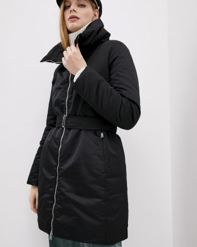 Теплая черная утепленная куртка Add