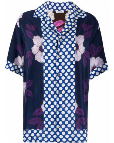 Шелковая блузка с короткими рукавами в горошек P.a.r.o.s.h.