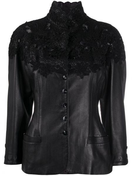 Черная кожаная куртка винтажная A.n.g.e.l.o. Vintage Cult