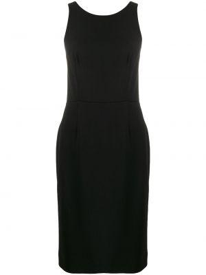 Шелковое платье на молнии без рукавов с вырезом Givenchy