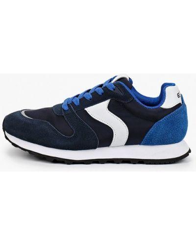 Текстильные синие кроссовки Escan