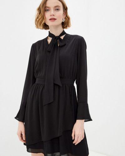 Черное платье с запахом Adl